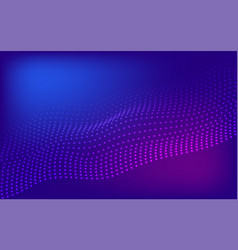 Blue and purple halftone wavy background vector