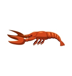 Boiled lobster icon cartoon style vector