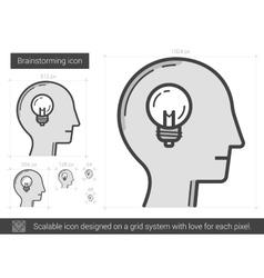 Brainstorming line icon vector
