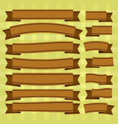 Brown ribbons vector