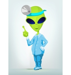 Cartoon Surgeon Alien vector image