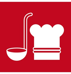 Chef hat and ladle vector