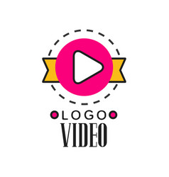 Cinema or video company logo template creative vector