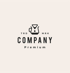 coffee paper filter dripper hipster vintage logo vector image
