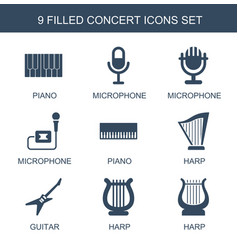 concert icons vector image