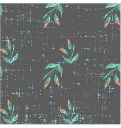 cute beautiful seamless floral pattern on grunge vector image