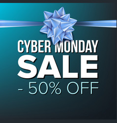 Cyber monday sale banner crazy vector