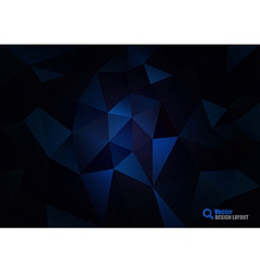 Dark Blue Triangles vector image