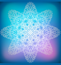 decorative ornament snowflake vector image