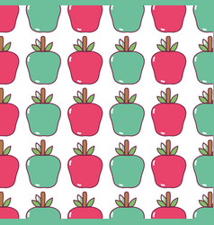 Delicious apple fruit background design vector
