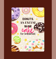donut doughnut food glazed sweet dessert vector image