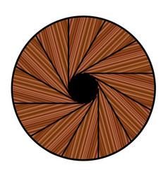 Down a spiral staircase vector