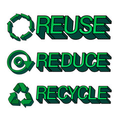 Ecological and eco friendly 3d concept vector
