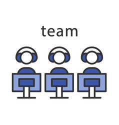 esports team color icon vector image