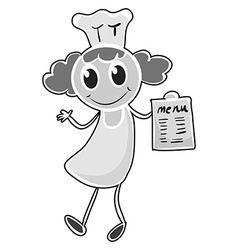 Female chef in uniform vector
