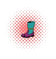 Firefighter boots icon comics style vector