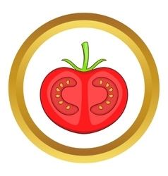 Fresh red tomato icon vector image