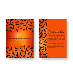 Funny notepad with bats for halloween vector