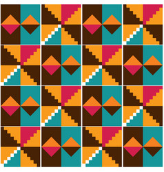 Ghana african tribal kente cloth pattern vector