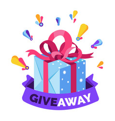 Gift box giveaway isolated icon social media or vector
