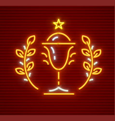 gold cup for winner vector image