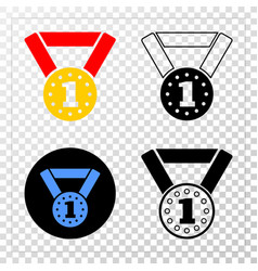 gold medal eps icon with contour version vector image