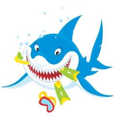Great white shark vector image
