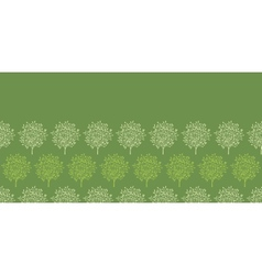 Green trees stripes horizontal seamless pattern vector image