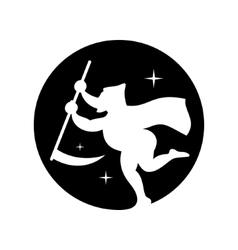 Halloween Death emblem Cartoon vector image