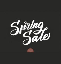 hand drawn lettering spring sale elegant modern vector image