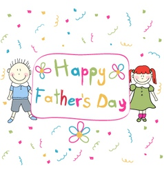 Happy Father s Day vector image vector image