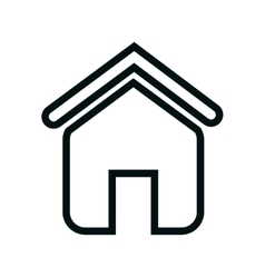 home house silhouette icon vector image