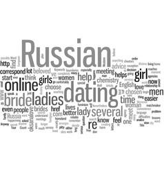In search a russian bride vector
