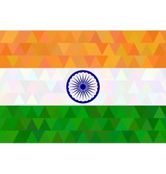 Indian Flag in geometric style vector