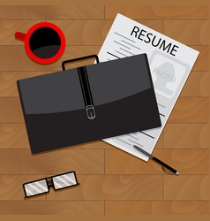 Job search top view vector