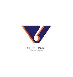 letter v logo concept vector image