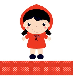 Little Red Riding Hood isolated on white vector image