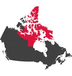 map of canada - nunavut vector image