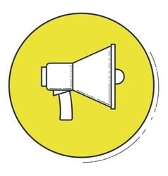 Media icon inside green button design vector