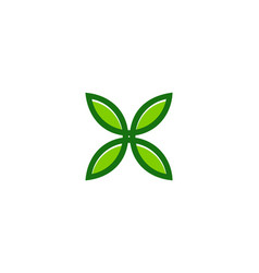 nature letter x logo icon design vector image