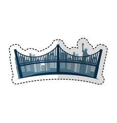 new york bridge isolated icon vector image