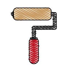 Paint roller cartoon vector