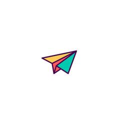 Paper plane icon design essential icon design vector
