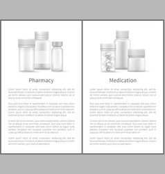pharmacy medication poster containers for medicals vector image