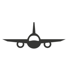 plane airplane flying icon vector image