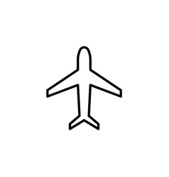 plane line icon black vector image