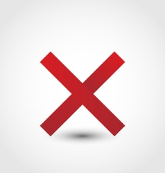 Red cross mark vector
