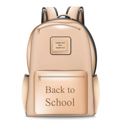 school bag realistic back to vector image