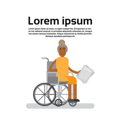 senior african american woman on wheel chair vector image