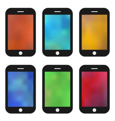 set of colorful wallpaper for mobile phones vector image